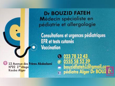 Dr. BOUZID Fateh Pédiatre Allergologue